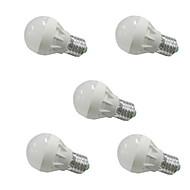 3W E26/E27 LED-pallolamput G45 6 SMD 5630 250 lm Lämmin valkoinen / Kylmä valkoinen AC 220-240 / AC 110-130 V 5 kpl