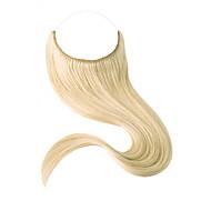 16-22 palcový remy 100% lidské vlasy skryté neviditelné drátěné ručně vyrobené vlasové prodloužení 80 gramů (šířka 25 cm)