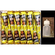 12X Black Henna Cone With Applicator Jac Bottle Temporary Tattoos Body Art Kit