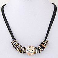 Women's Statement Necklaces Fashion Black Jewelry Party Daily Casual 1pc