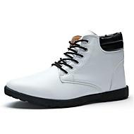 Herre-PU-Flat hæl-Komfort-Støvler-Fritid-