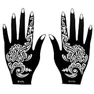 2stk henna airbrush stencil ugiftige midlertidig udskrivning for kvinder hånd kunst tatovering mærkat S107