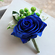 Wedding Flowers Free-form Simple Handmade Roses Grooms Boutonnieres