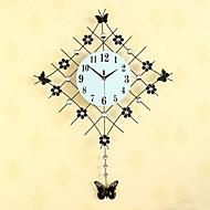 מצחיק מודרני / עכשווי שעון קיר,פרחוניים/בוטניים / מעורר השראה / חתונה / משפחה / חברים גביש / זכוכית / מתכת 83cm x 61cm ( 33in x 24in )