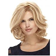 12 tum kvinnor kort rakt syntetiskt hår peruk blont