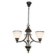 3 Light 22 inch Ceiling Light Fixture, Black