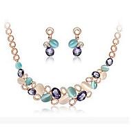 Komplet nakita Ogrlica / Naušnice Europska Umjetno drago kamenje Opal Legura Ispustiti Pink-Blue Ogrlice Füllbevalók ZaParty Rođendan