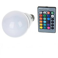 E27 85V-265V 600-900Lm 10W RGB Remote Control LED Colorful Bulbs