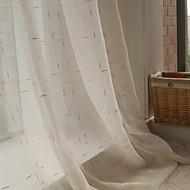 Két panel Modern Pléd / takaró Arany Nappali szoba Poli / pamut keverék Sheer Függöny Shades