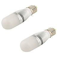 YouOKLight® 2PCS E27 5W 480Lm 3000K Warm White Light LED Corn Lamp - Silver + White (AC 110~130V) /(AC220-240)