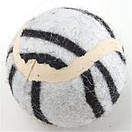 Brinquedo Para Cachorro Brinquedos para Animais Bola Rato de Brinquedo Bola de Tenis Téxtil Branco Amarelo Marron