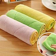 5pc חבילת ניקוי פוליאסטר צבע אקראי המטבח בד מגבת נקייה