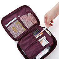 Unisexe PVC / Non-tissé Utilisation Professionnelle Trousse de Maquillage Rose / Bleu / Orange / Rouge / Gris