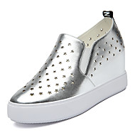 Women's Shoes Synthetic Platform Creepers Loafers Office & Career / Party & Evening / Athletic / Casual White / Silver