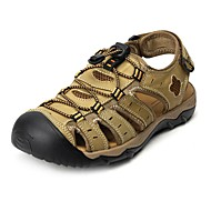 herresko utendørs / atletisk / kjole / uformelle nappa skinn sandaler stor størrelse brun / khaki