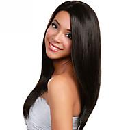 em estoque 10-30inch seda em linha reta com o bebê cabelo rendas frente perucas 100% brasileira virgem u cabelo humano peruca parte para