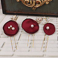 Women's Fabric Headpiece-Wedding / Special Occasion Hair Pin 3 Pieces