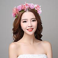 נשים בד פלסטיק כיסוי ראש-חתונה אירוע מיוחד זרי פרחים חלק 1