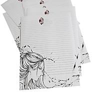 läpikuultava kirjekuori paketti (3 kirjekuori sulfaatti +6 paperi, satunnainen kuvio)
