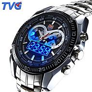 Herre Sportsur / Armbåndsur Japansk Quartz LED / Kalender / Vandafvisende / Dual Tidszoner / alarm / Sportsur / Selvlysende i mørke
