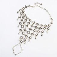 Femme Bracelet de cheville/Bracelet Résine Alliage Mode Argent Aux femmes Bijoux Quotidien 1pc