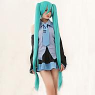 wysokiej jakości Vocaloid Hatsune Miku 2 kucyki cosplay peruka