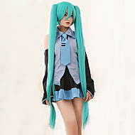 høy kvalitet vocaloid Hatsune miku 2 hestehale cosplay parykk