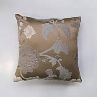 Satin Chenille three-Dimensional Jacquard Cushion Cover-Brown