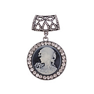 bayan için antika gümüş isa broş eşarp toka takı aksesuarları eşarp halka