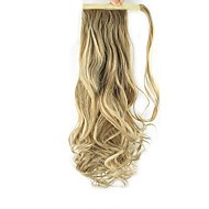 Length Dark Golden Wig Curls Ponytail 60CM Synthetic Body Wave High Temperature Wire Color 27/613