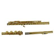 kvalitet 17 åbent hul fløjte, c forgyldt fløjte, udskåret kobber materiale fløjte, professionel fløjte
