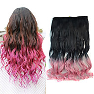 18 tommers ombre farge body wave fluffy hår syntetisk forlengelse