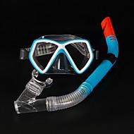 Tauchmasken Schwimmbrille Schnorchelset Tauchen und Schnorcheln PVC Silikon Blau Schwarz