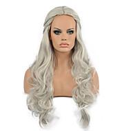 europa e os estados unidos peruca modelagem peruca de cabelo cosplay branco-prateada.