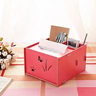 Cajas de Servilletas / Uso de oficina(Rojo / Rosado / Blanco / Verde / Azul / Amarillo) -Tema Clásico-No personalizado 20*13*16cm Madera