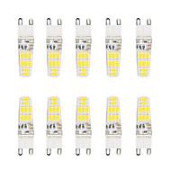 5W G9 Luminárias de LED  Duplo-Pin T 16 SMD 5730 300 lm Branco Quente / Branco Frio Impermeável V 10 pçs
