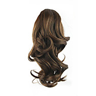 Length Brown Wig 34CM Synthetic Curly High Temperature Wire Gripper Horsetail Hair Color 2/33