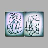 Ручная роспись Телесный Modern,2 панели Hang-роспись маслом