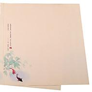 kiinalainen hyasintti paperi vuodenaikoina (joukko 8 kpl satunnainen kuvio)