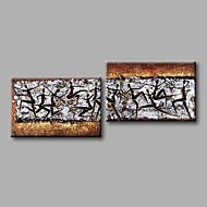 """estirada (listo para colgar) de aceite pintado a mano la pintura abstracta marrón negro blanco 56 """"x28"""" arte de la pared moderna de la"""