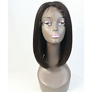 pelucas de cabello humano sin cola pelo virginal de encaje completa bob para la mujer negro atajo instock peluca bob