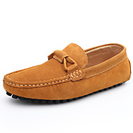 Men's Peas Shoes Breathable  Office & Career / Casual Leather / Suede Loafers Blue / Brown / Gray / Burgundy