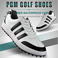 Men's Sneakers Spring / Summer / Fall / Winter Customized Materials Outdoor / Athletic Flat Heel Gore Black and White Golf / Tennis