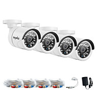 sannce® 1080 * 720 AHD interiores e exteriores de corte IR CCTV kits de câmera kits de casa sistema de segurança à prova de intempéries