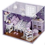chi szórakoztató ház diy kunyhó édes napsütésben merített kis ház összeszerelt modell kreatív születésnapi ajándék