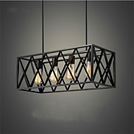 European classical iron 4 head box black bedroom lamp lamp chandelier Mediterranean Restaurant garden Chandelier