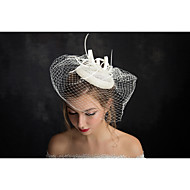 Women's Lace / Feather / Flax / Net Headpiece-Special Occasion Fascinators 1 Piece Clear Irregular 15