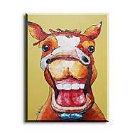 מצויר ביד בעלי חיים ציורי שמן,ים- תיכוני / פסטורלי / סגנון ארופאי / סגנון / מודרני / קלאסי / מסורתי / ריאליסטי פנל אחד בדציור שמן