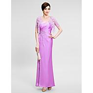 Sheath/Column Mother of the Bride Dress - Ankle-length Sleeveless Satin Chiffon