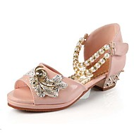 Girls' Shoes Slipper Princess Crystals Shoes Dress shoes Wedding / Dress/Performance Heels Sandals Latin shoes Heels